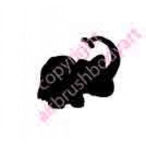 0271b elephant backing reusable stencil